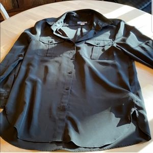 DKNY Black Silk Shirt